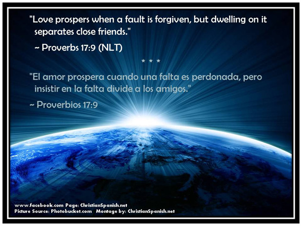 Love prospers when a fault is forgiven